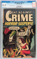 Golden Age (1938-1955):Horror, Fight Against Crime #16 (Story Comics, 1953) CGC FN+ 6.5 Cream tooff-white pages....