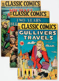 Golden Age (1938-1955):Classics Illustrated, Classic Comics #16, 25, and 28 First Editions Group (Gilberton,1943-46) Condition: Average VG-.... (Total: 3 Comic Books)