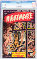 Golden Age (1938-1955):Horror, Nightmare #12 (St. John, 1954) CGC FN/VF 7.0 Cream to off-whitepages....