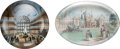 Miscellaneous:Ephemera, Two glass paperweights with photographs. The Royal Pavilionand The Crystal Palace, 1851.. ... (Total: 2 Items)