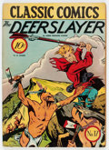 Golden Age (1938-1955):Classics Illustrated, Classic Comics #17 The Deerslayer - First Edition (Gilberton, 1944)Condition: VG....