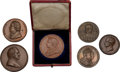 Miscellaneous:Ephemera, Six copper medallions commemorating a variety of events, including Victoria's Diamond Jubilee in it's original leather box.... (Total: 6 Items)