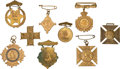 Miscellaneous:Ephemera, Nine brass Jubilee souvenir pins. 1887 and 1897.. ... (Total: 9Items)