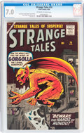 Silver Age (1956-1969):Horror, Strange Tales #74 (Marvel, 1960) CGC FN/VF 7.0 Off-white to whitepages....