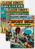 Golden Age (1938-1955):Classics Illustrated, Classic Comics Group of 6 (Gilberton, 1944-46) Condition: AverageVG.... (Total: 6 Comic Books)