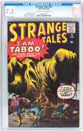 Silver Age (1956-1969):Horror, Strange Tales #75 (Marvel, 1960) CGC VF- 7.5 Off-white to whitepages....