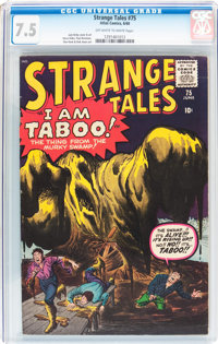 Strange Tales #75 (Marvel, 1960) CGC VF- 7.5 Off-white to white pages