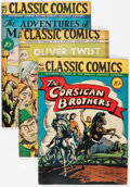 Golden Age (1938-1955):Classics Illustrated, Classic Comics #20, 23, and 27 First Editions Group (Gilberton, 1944-46) Condition: Average VG/FN.... (Total: 3 Comic Books)