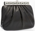 "Luxury Accessories:Accessories, Judith Leiber Black Karung Evening Bag. Very Good to ExcellentCondition. 8"" Width x 7"" Height x 2"" Depth. ..."