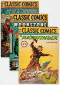Golden Age (1938-1955):Classics Illustrated, Classic Comics First Editions Group of 5 (Gilberton, 1944-47)Condition: Average VG.... (Total: 5 Comic Books)