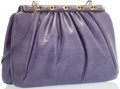 "Luxury Accessories:Accessories, Judith Leiber Lavender Evening Bag. Good Condition. 9.5""Width x 7"" Height x 2"" Depth. ..."