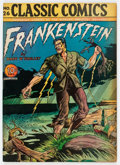 Golden Age (1938-1955):Classics Illustrated, Classic Comics #26 Frankenstein - First Edition (Gilberton, 1945) Condition: VG+....