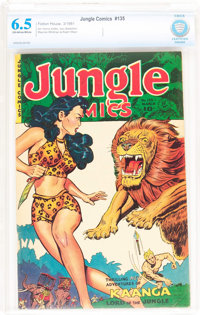 Jungle Comics #135 (Fiction House, 1951) CBCS FN+ 6.5 Off-white to white pages