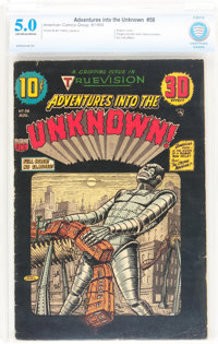 Adventures Into The Unknown #58 (ACG, 1954) CBCS VG/FN 5.0 Off-white to white pages
