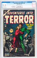 Golden Age (1938-1955):Horror, Adventures Into Terror #30 (Atlas, 1954) CGC FN- 5.5 Off-white towhite pages....