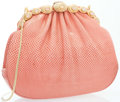 "Luxury Accessories:Accessories, Judith Leiber Pink Karung Evening Bag. Good Condition. 8""Width x 6.5"" Height x 2"" Depth. ..."