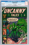 Golden Age (1938-1955):Horror, Uncanny Tales #9 (Atlas, 1953) CGC FN- 5.5 Off-white to whitepages....