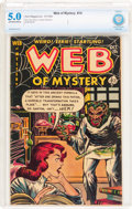 Golden Age (1938-1955):Horror, Web of Mystery #14 (Ace, 1952) CBCS VG/FN 5.0 Off-white to whitepages....