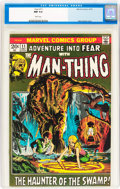 Bronze Age (1970-1979):Horror, Fear #11 Man-Thing (Marvel, 1972) CGC NM 9.4 White pages....