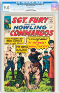 Silver Age (1956-1969):War, Sgt. Fury and His Howling Commandos #5 (Marvel, 1964) CGC VF/NM 9.0 Off-white pages....