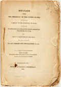 Books:Americana & American History, [War of 1812]. [James Madison]. Message from the President ofthe United States, Transmitting A Report of the Secretary ...