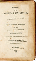 Books:Americana & American History, S.F. Wilson. History of the American Revolution, with aPreliminary View of the Character and Principles of theColonist...
