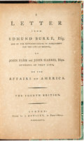 Books:Americana & American History, Edmund Burke. A Letter from Edmund Burke, Esq; One of theRepresentatives in Parliament for the City of Bristol, toJohn...