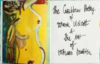 Derek Walcott, author. Romare Bearden, artist. SIGNED/LIMITED. The Caribbean Poetry of Derek Walcott & The Art