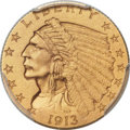 Proof Indian Quarter Eagles, 1913 $2 1/2 PR65 PCGS....