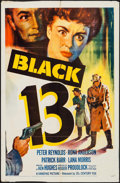 "Movie Posters:Crime, Black 13 & Other Lot (20th Century Fox, 1954). One Sheets (2) (27"" X 41""). Crime.. ... (Total: 2 Items)"