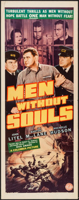 """Men without Souls (Columbia, 1940). Insert (14"""" X 36""""). Action"""