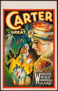 "Carter the Great (1927). Window Card (14"" X 22""). Miscellaneous"