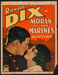 "Movie Posters:Adventure, Moran of the Marines (Paramount, 1928). Trimmed Window Card (14"" X18""). Adventure.. ..."