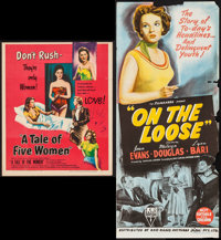 "A Tale of Five Women & Other Lot (United Artists, 1953). Trimmed Window Card (14"" X 17"") & Aus..."