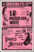 """Movie Posters:Exploitation, I Passed for White/Unwed Mother Combo (Allied Artists, R-1965). OneSheet (27"""" X 41""""). Exploitation.. ..."""