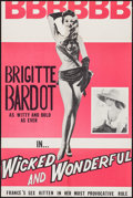 """Movie Posters:Foreign, Mademoiselle Striptease (Audubon Films, R-1960s). Trimmed One Sheet (24"""" X 36""""). Foreign. Alternate Title: Wicked and Wond..."""