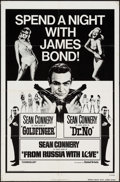 "Movie Posters:James Bond, Spend a Night with James Bond (United Artists, R-1972). One Sheet(27"" X 41""). James Bond.. ..."