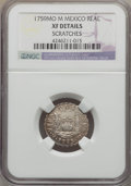 Mexico, Mexico: Ferdinand VI Real 1759 Mo-M XF Details (Scratches) NGC,...