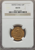 Chile, Chile: Republic gold 5 Pesos 1859-So AU55 NGC,...