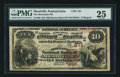 National Bank Notes:Pennsylvania, Meadville, PA - $10 1882 Brown Back Fr. 480 The Merchants NB Ch. #(E)871. ...