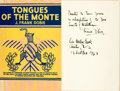 Books:Travels & Voyages, J. Frank Dobie. INSCRIBED. Tongues of the Monte. Boston: Little, Brown and Company, 1947....