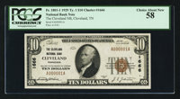 Cleveland, TN - $10 1929 Ty. 1 The Cleveland NB Ch. # 1666