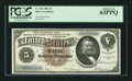 Large Size:Silver Certificates, Fr. 263 $5 1886 Silver Certificate PCGS Choice New 63PPQ.. ...