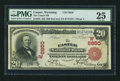 National Bank Notes:Wyoming, Casper, WY - $20 1902 Red Seal Fr. 639 The Casper NB Ch. # (W)6850. ...