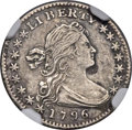 Early Half Dimes, 1796 H10C LIKERTY, V-1, LM-1, R.3 -- Environmental Damage --NGCDetails. XF....
