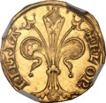 Italy:Florence, Italy: Florence. Republic (13th C.-1532) gold Fiorino d'oro1252-1421 MS62 NGC,...