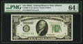 Small Size:Federal Reserve Notes, Fr. 2001-F $10 1928A Federal Reserve Note. PMG Choice Uncirculated 64 EPQ.. ...
