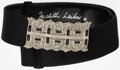 "Luxury Accessories:Accessories, Judith Leiber Black Satin Belt. Good Condition. 1.5"" Width x 30"" Length. ..."