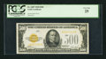 Small Size:Gold Certificates, Fr. 2407 $500 1928 Gold Certificate. PCGS Very Fine 25.. ...