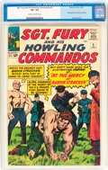 Silver Age (1956-1969):War, Sgt. Fury and His Howling Commandos #5 (Marvel, 1964) CGC VF+ 8.5 Cream to off-white pages....